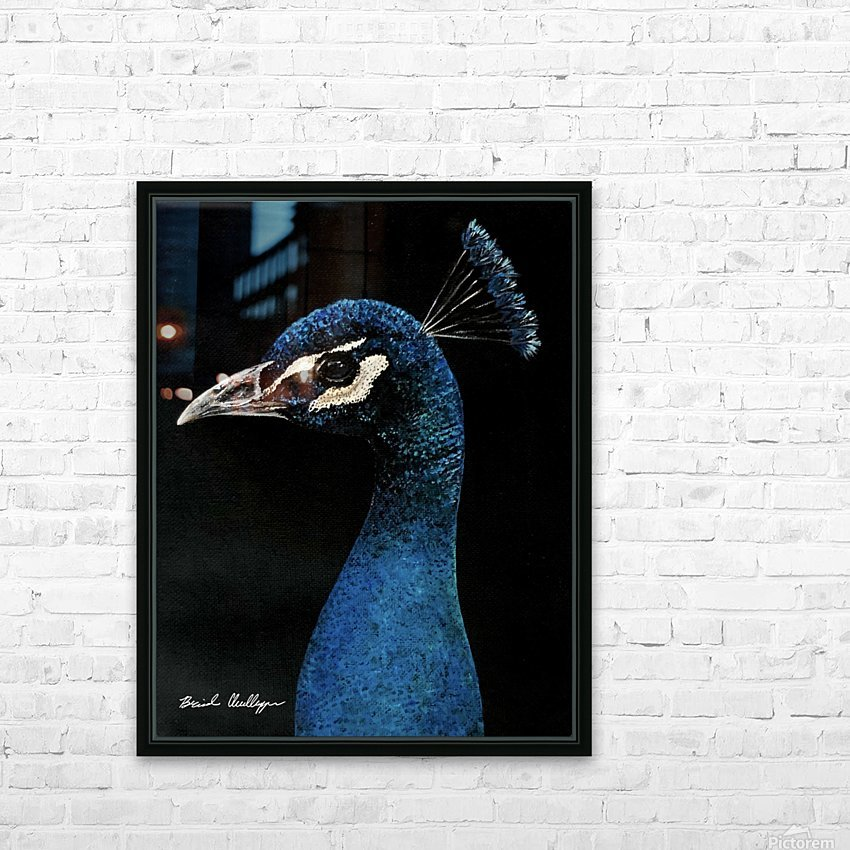 Peacock Portrait HD Sublimation Metal print with Decorating Float Frame (BOX)