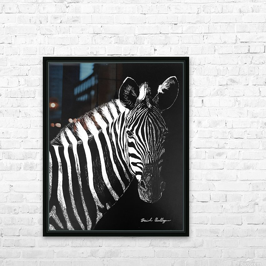 Zebra Portrait HD Sublimation Metal print with Decorating Float Frame (BOX)