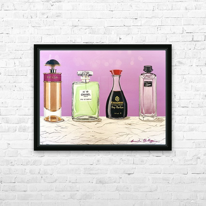 Soy Parfum HD Sublimation Metal print with Decorating Float Frame (BOX)