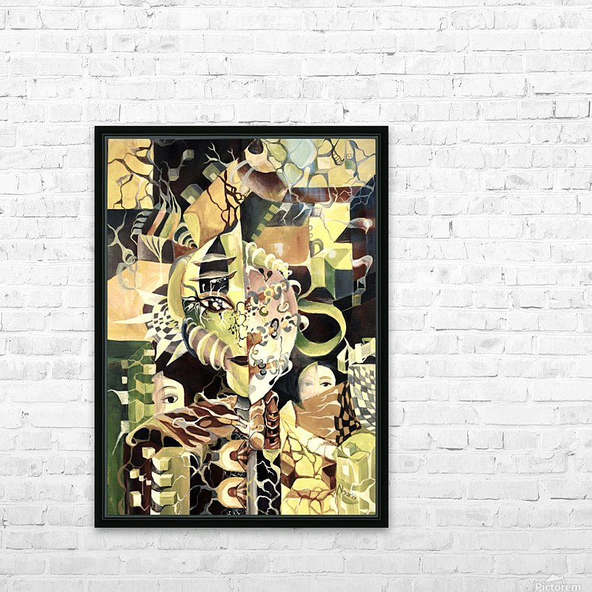 Pop Currealism Contemporary Utopia HD Sublimation Metal print with Decorating Float Frame (BOX)