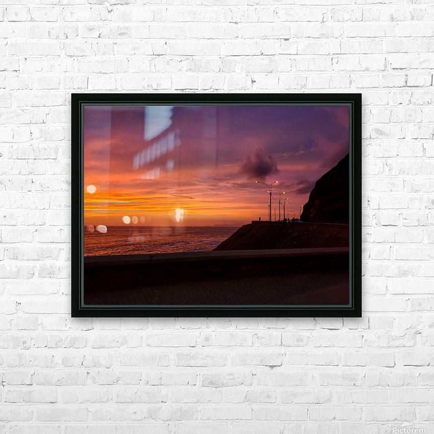 Costa Verde Sunset  HD Sublimation Metal print with Decorating Float Frame (BOX)
