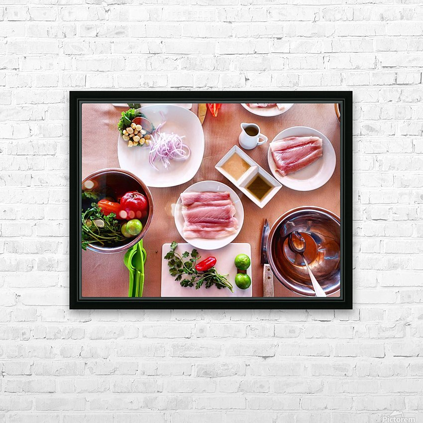 Ceviche  HD Sublimation Metal print with Decorating Float Frame (BOX)