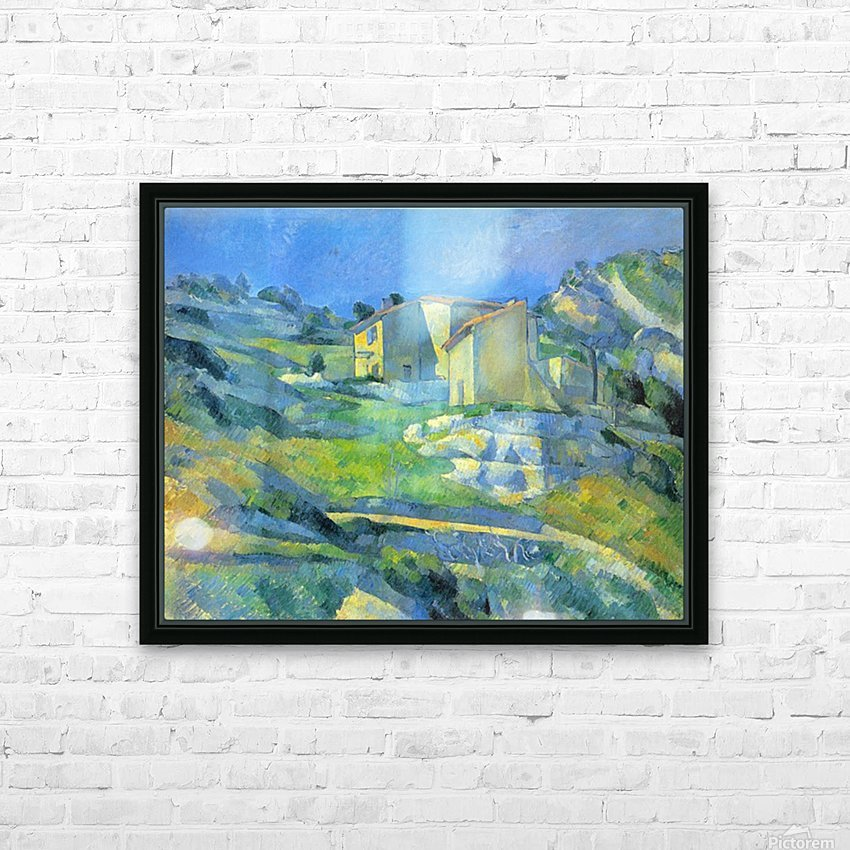 House in the Provence by Cezanne HD Sublimation Metal print with Decorating Float Frame (BOX)