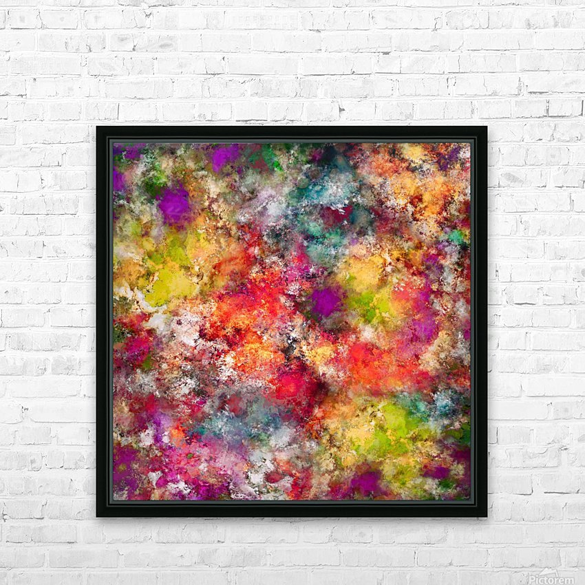 Tangle HD Sublimation Metal print with Decorating Float Frame (BOX)