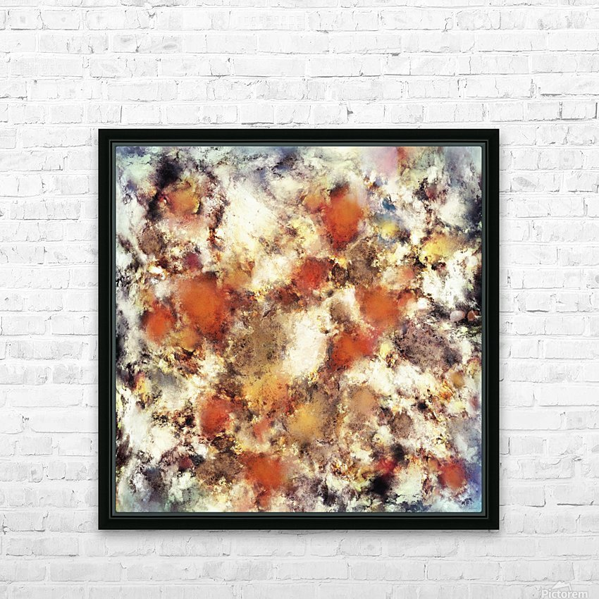 Terracotta tumble HD Sublimation Metal print with Decorating Float Frame (BOX)