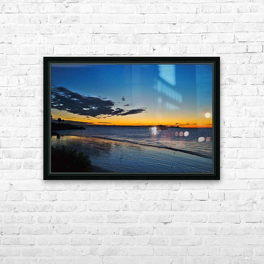 Sunrise Full Frame HD Sublimation Metal print with Decorating Float Frame (BOX)