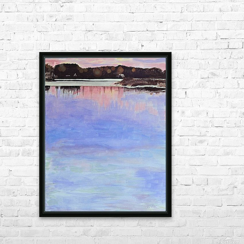 Old Fort Bayou Sundown HD Sublimation Metal print with Decorating Float Frame (BOX)