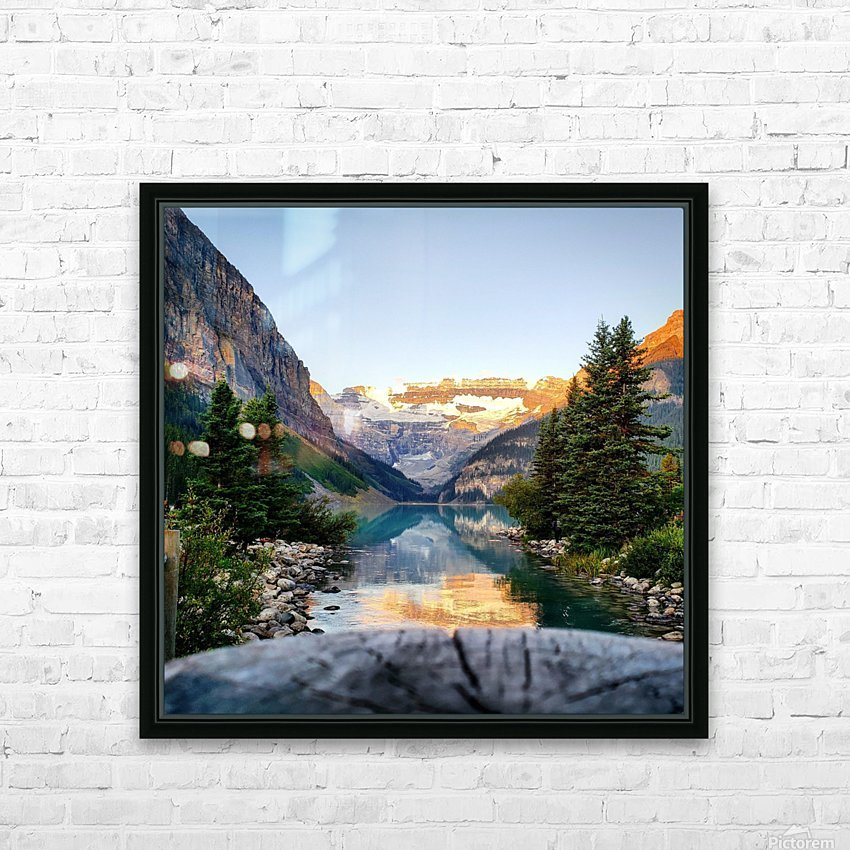 Lake Louise  HD Sublimation Metal print with Decorating Float Frame (BOX)