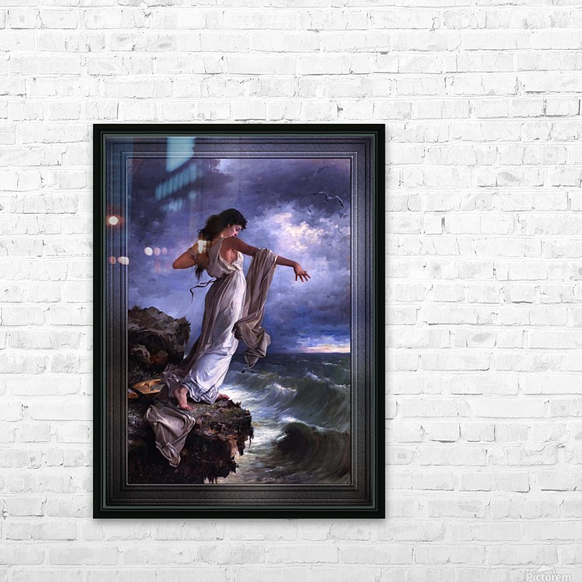 Death of Sappho by Miguel Carbonell Selva HD Sublimation Metal print with Decorating Float Frame (BOX)