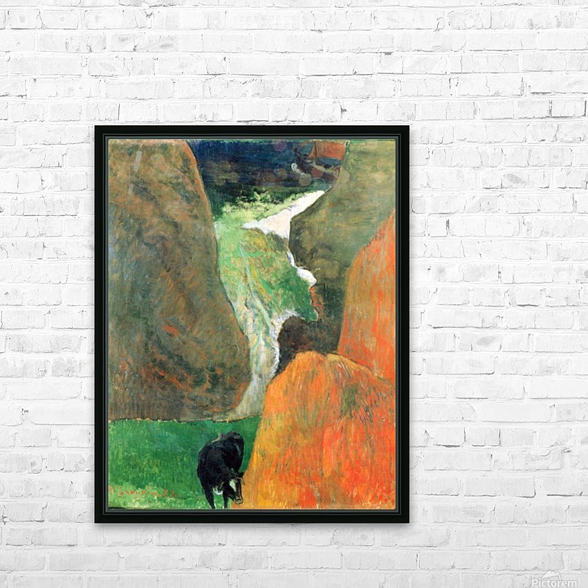 Hover Above the Abyss by Gauguin HD Sublimation Metal print with Decorating Float Frame (BOX)