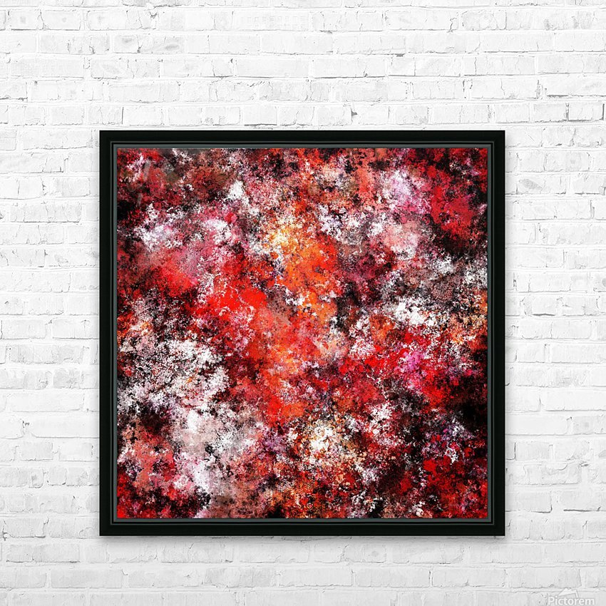 The red sea foam HD Sublimation Metal print with Decorating Float Frame (BOX)