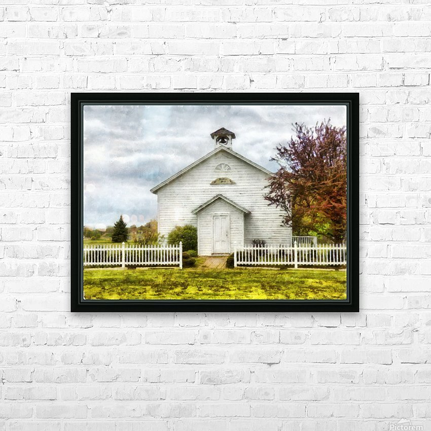 Old School House HD Sublimation Metal print with Decorating Float Frame (BOX)