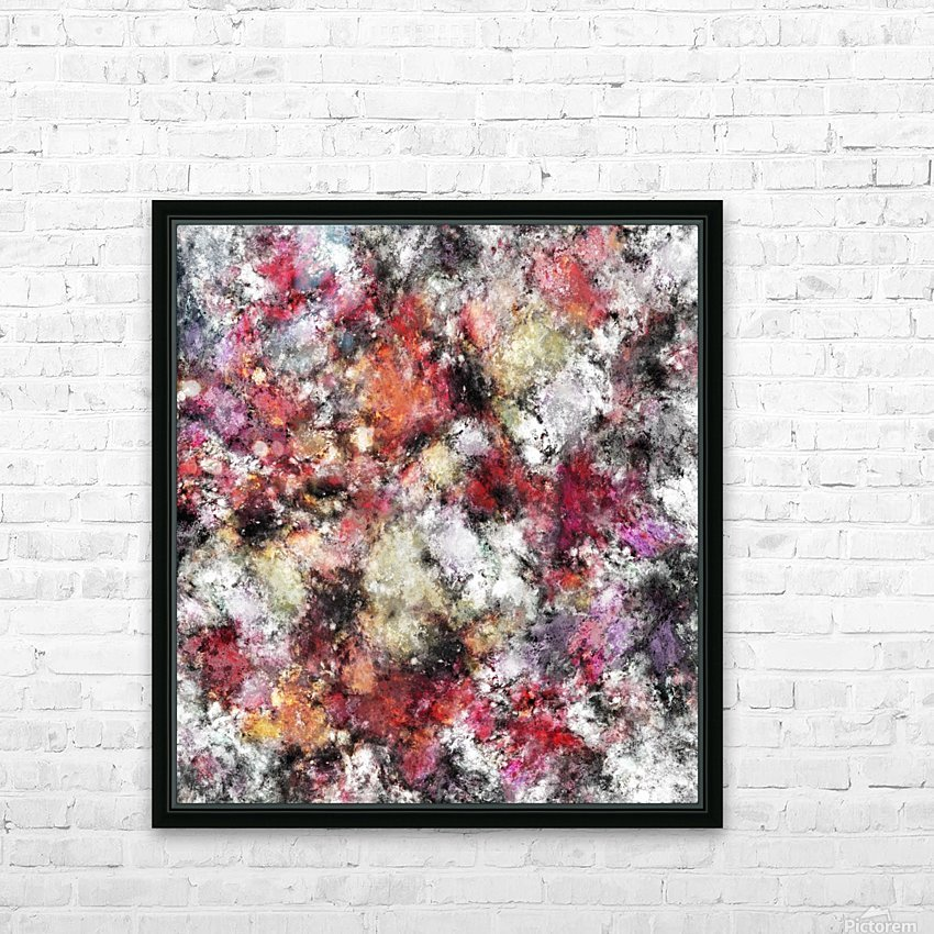 Thermal fractures HD Sublimation Metal print with Decorating Float Frame (BOX)