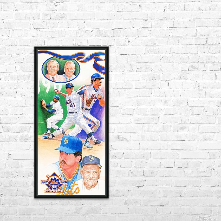 1986 New York Mets Art HD Sublimation Metal print with Decorating Float Frame (BOX)