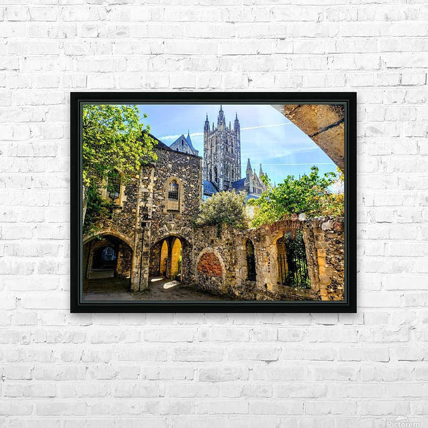 Canterbury Cathedral  HD Sublimation Metal print with Decorating Float Frame (BOX)