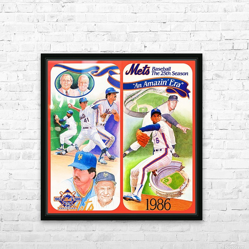 1986 New York Mets HD Sublimation Metal print with Decorating Float Frame (BOX)