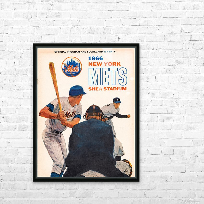 1966 New York Mets HD Sublimation Metal print with Decorating Float Frame (BOX)