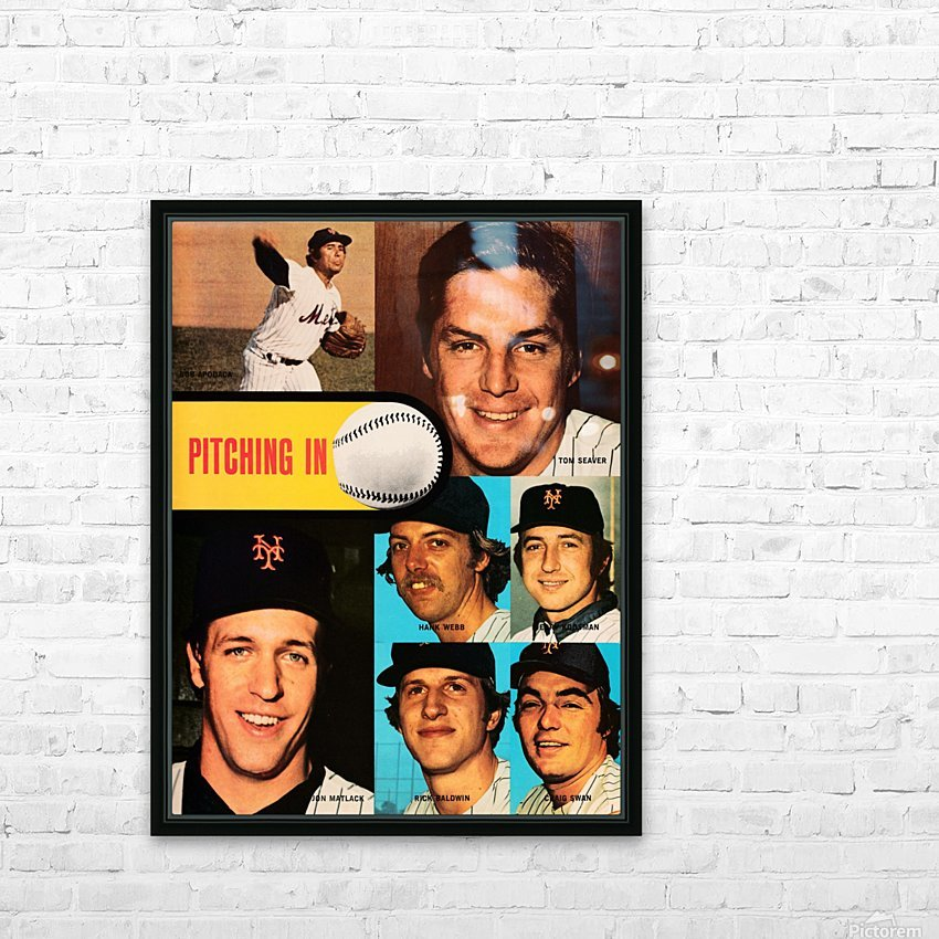 vintage mets poster tom seaver pitcher HD Sublimation Metal print with Decorating Float Frame (BOX)