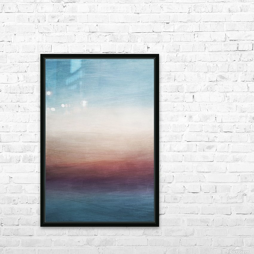 Misty Horizon 01 - Abstract Wall Art HD Sublimation Metal print with Decorating Float Frame (BOX)