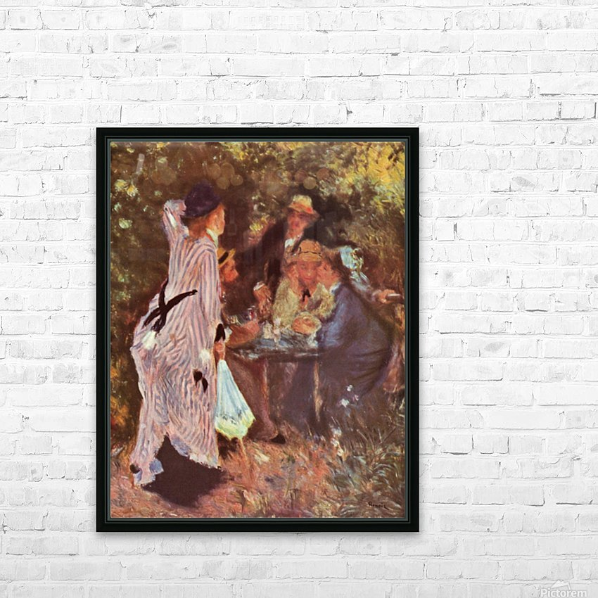 In the Garden (in the garden bower of Moulin de la Galette by Renoir HD Sublimation Metal print with Decorating Float Frame (BOX)