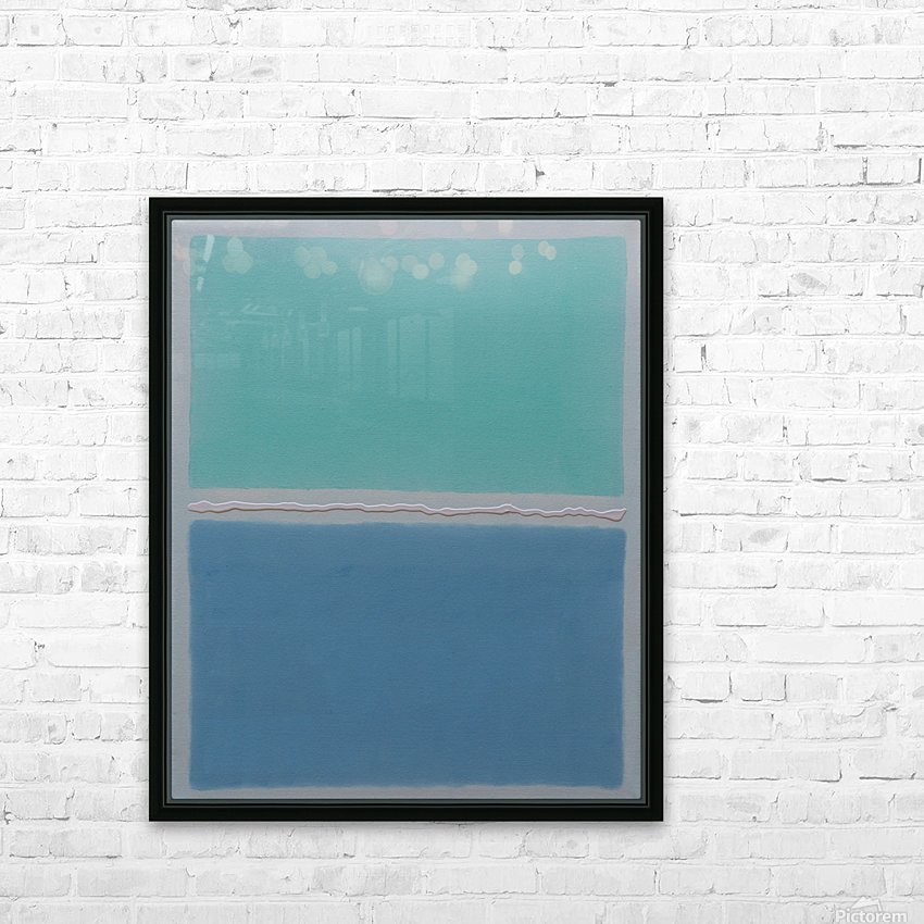 Arctic Sea HD Sublimation Metal print with Decorating Float Frame (BOX)