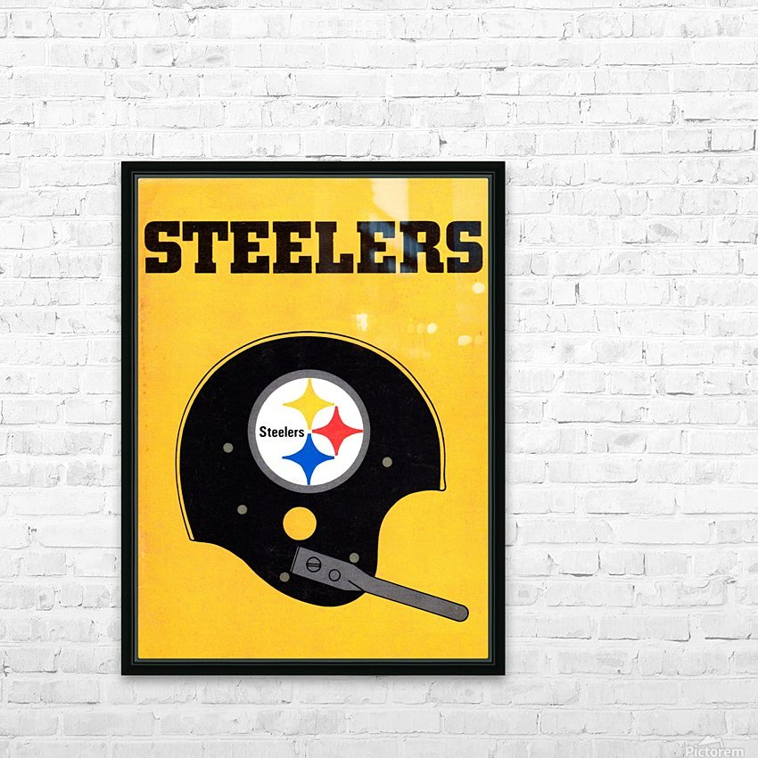 1968 Pittsburgh Steelers Helmet Poster HD Sublimation Metal print with Decorating Float Frame (BOX)