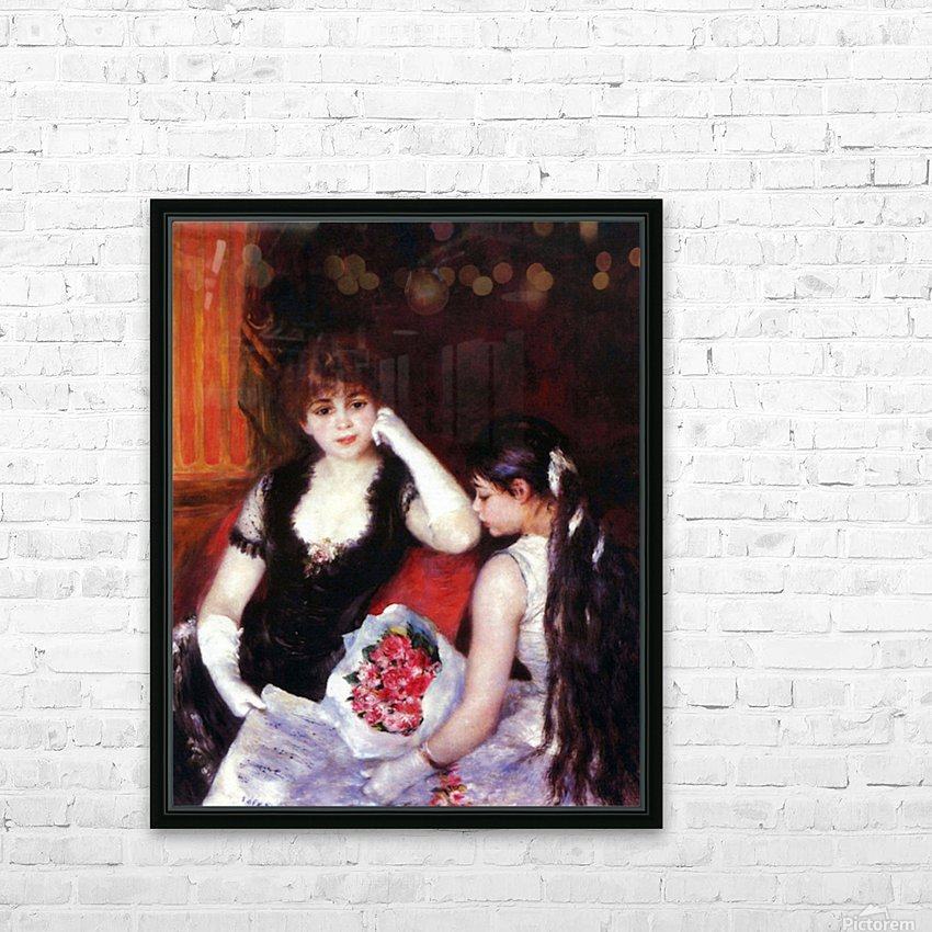 In the Loge by Renoir HD Sublimation Metal print with Decorating Float Frame (BOX)