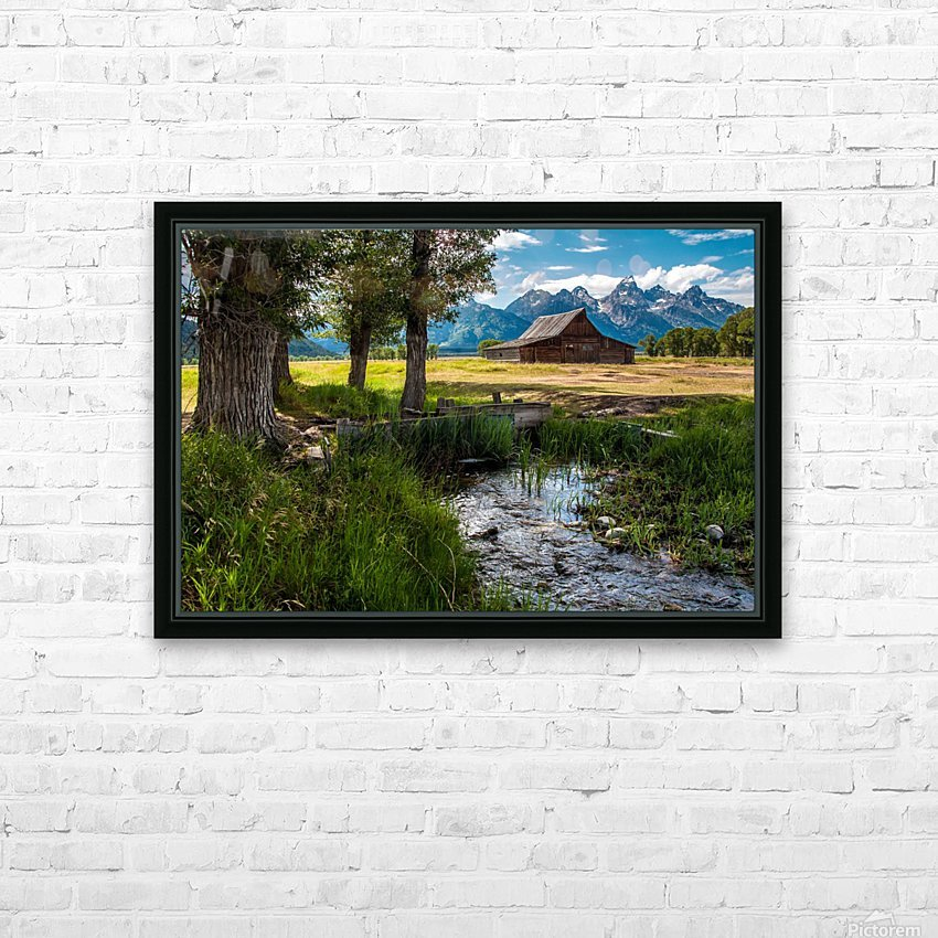T.a. Moulton Barn - Grand Teton HD Sublimation Metal print with Decorating Float Frame (BOX)