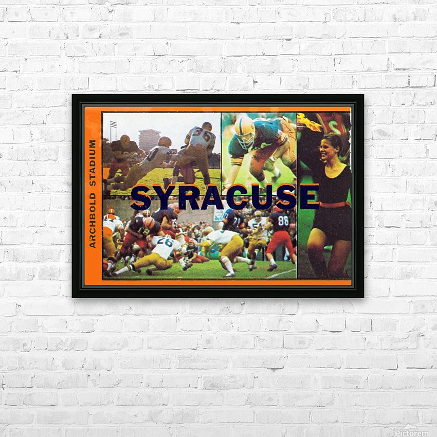 Vintage Syracuse Ticket Art HD Sublimation Metal print with Decorating Float Frame (BOX)