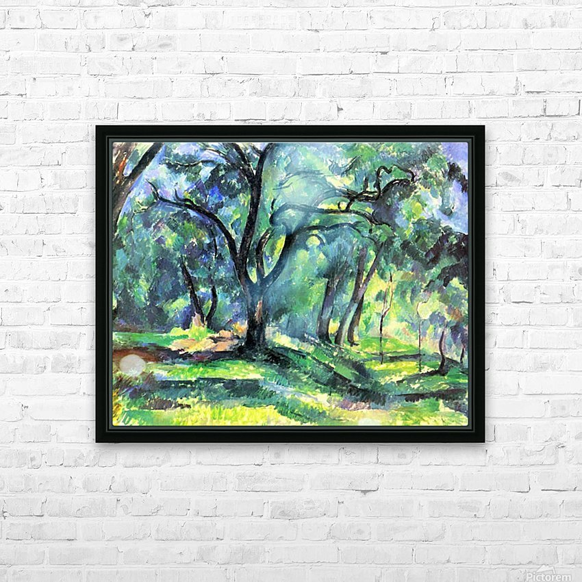 In the Woods by Cezanne HD Sublimation Metal print with Decorating Float Frame (BOX)