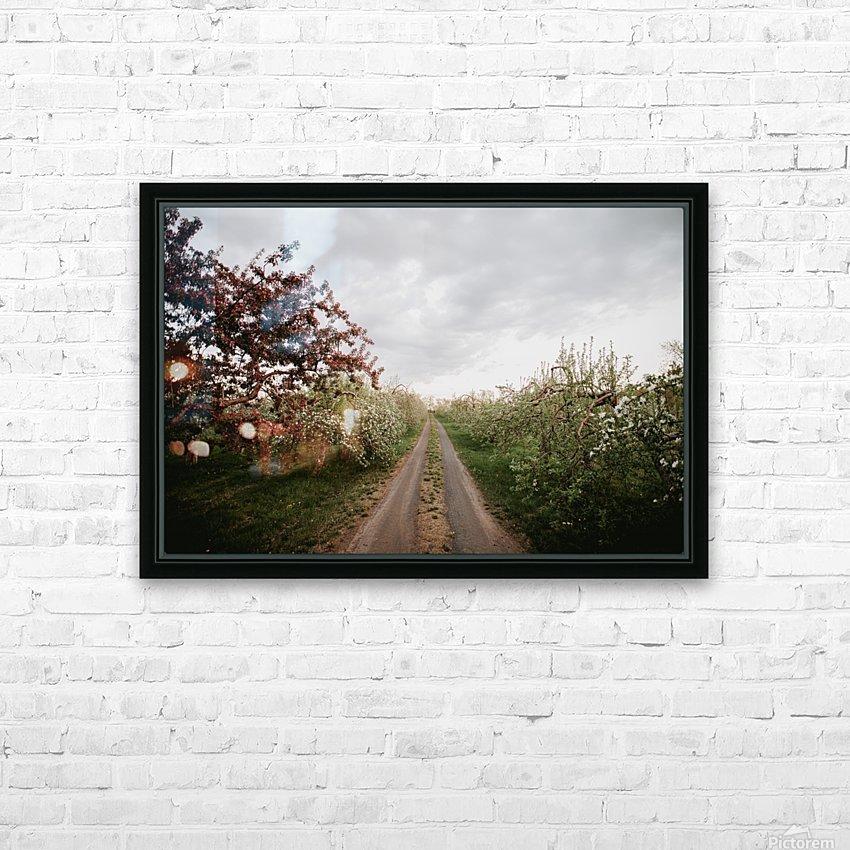 Chemin fleuri HD sublimation métal imprimé avec décoration flotteur cadre (boîte)