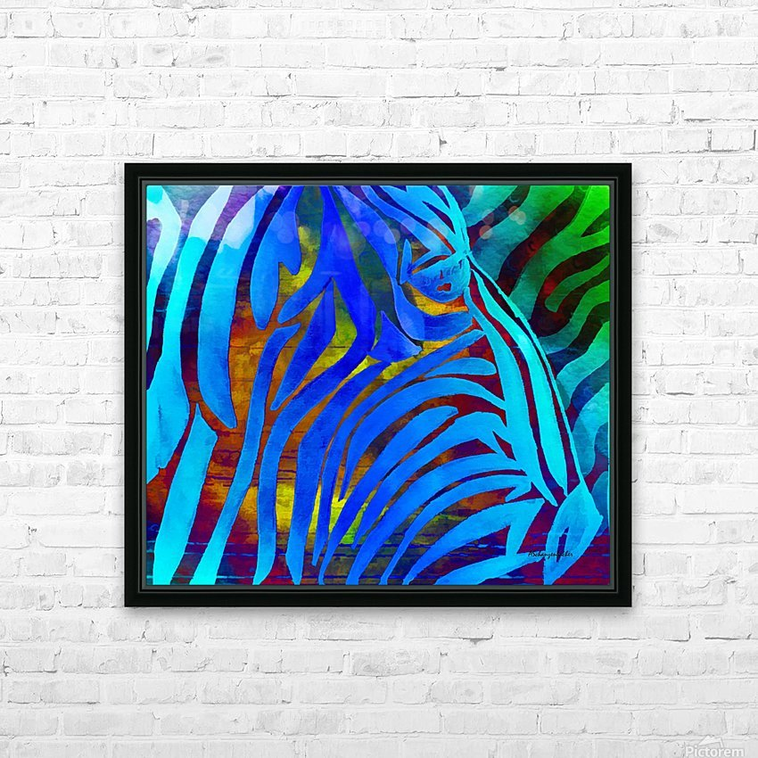 Jungle Fever HD Sublimation Metal print with Decorating Float Frame (BOX)