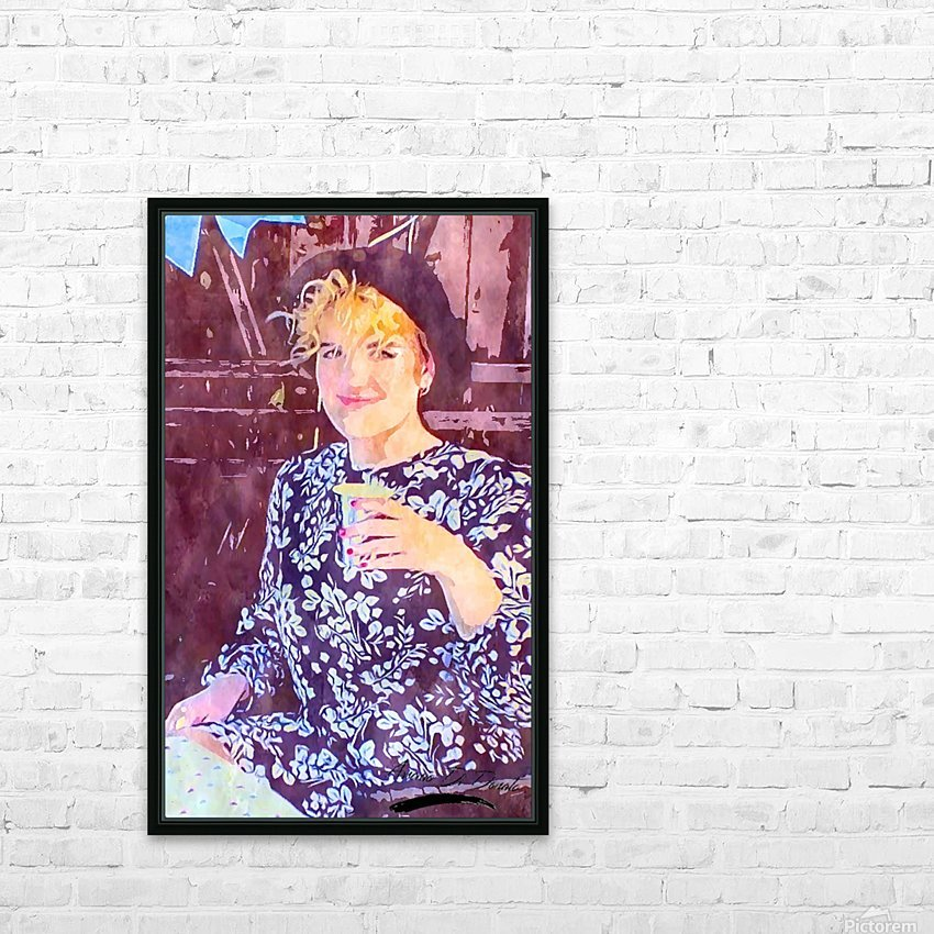 Flower Girl HD Sublimation Metal print with Decorating Float Frame (BOX)