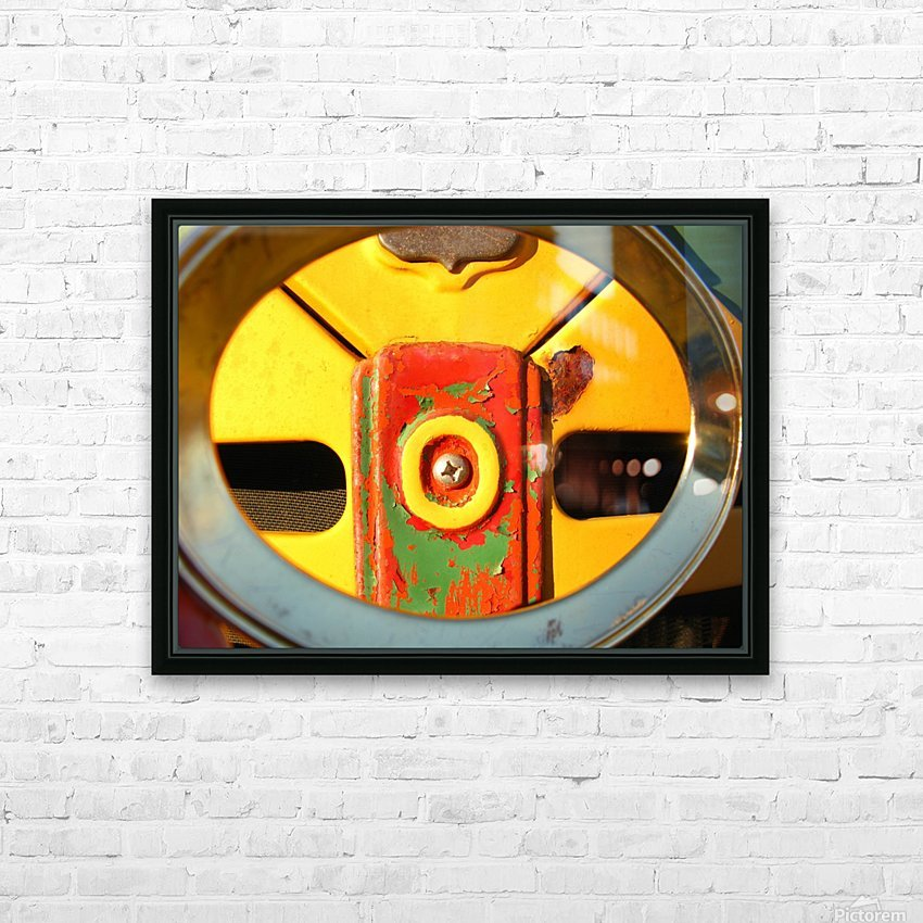 Rusted Love HD Sublimation Metal print with Decorating Float Frame (BOX)