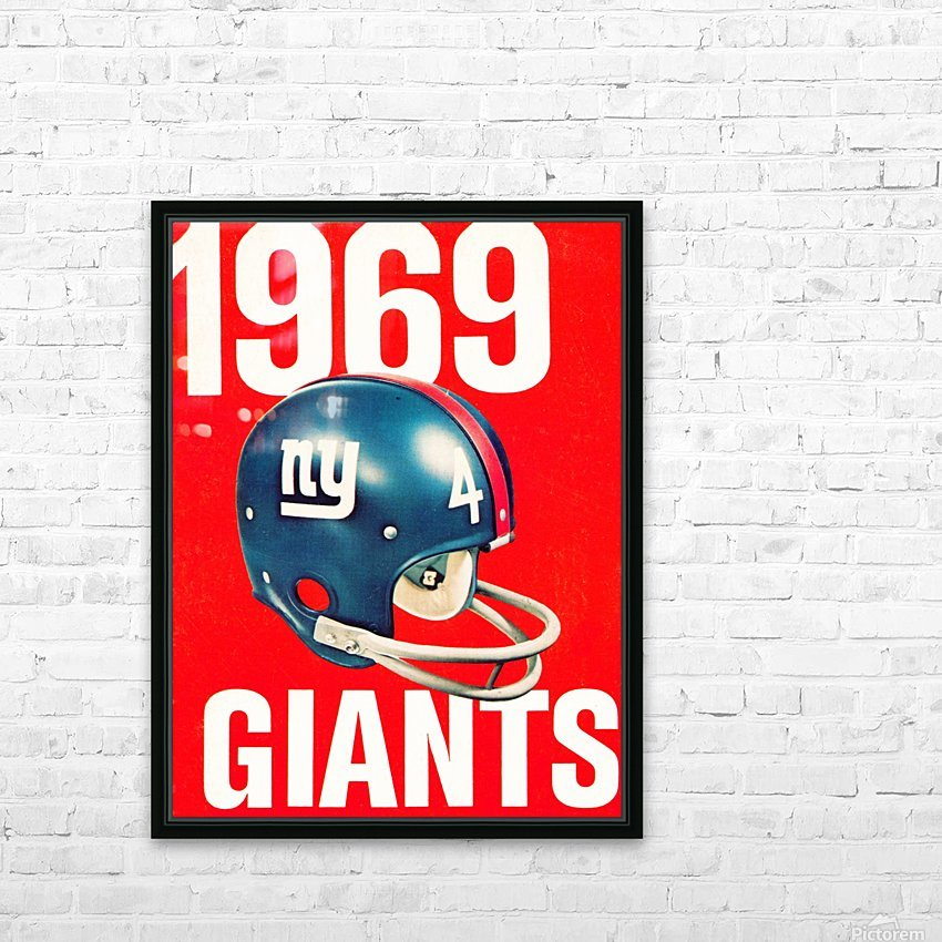 1969 new york giants football poster HD Sublimation Metal print with Decorating Float Frame (BOX)