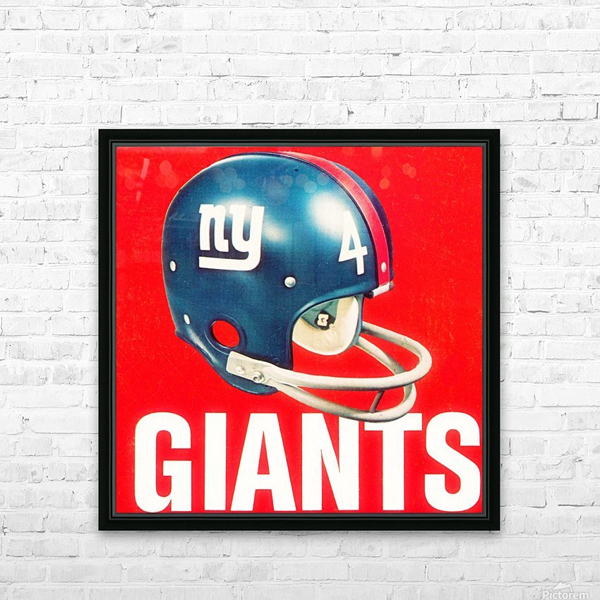 vintage new york giants helmet art HD Sublimation Metal print with Decorating Float Frame (BOX)