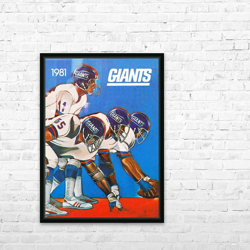 1981 new york giants HD Sublimation Metal print with Decorating Float Frame (BOX)
