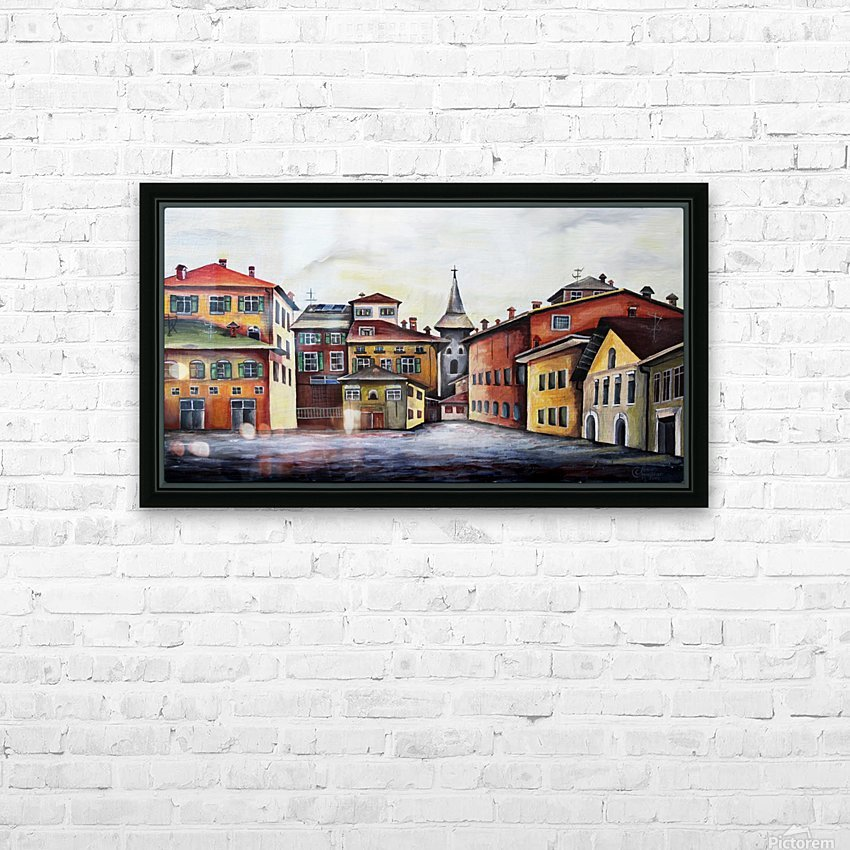 Italy Bohemian Rome Illustration  HD Sublimation Metal print with Decorating Float Frame (BOX)