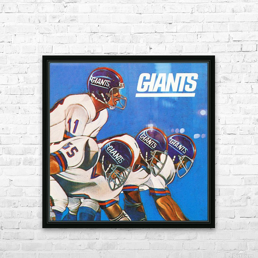 new york giants gift ideas HD Sublimation Metal print with Decorating Float Frame (BOX)