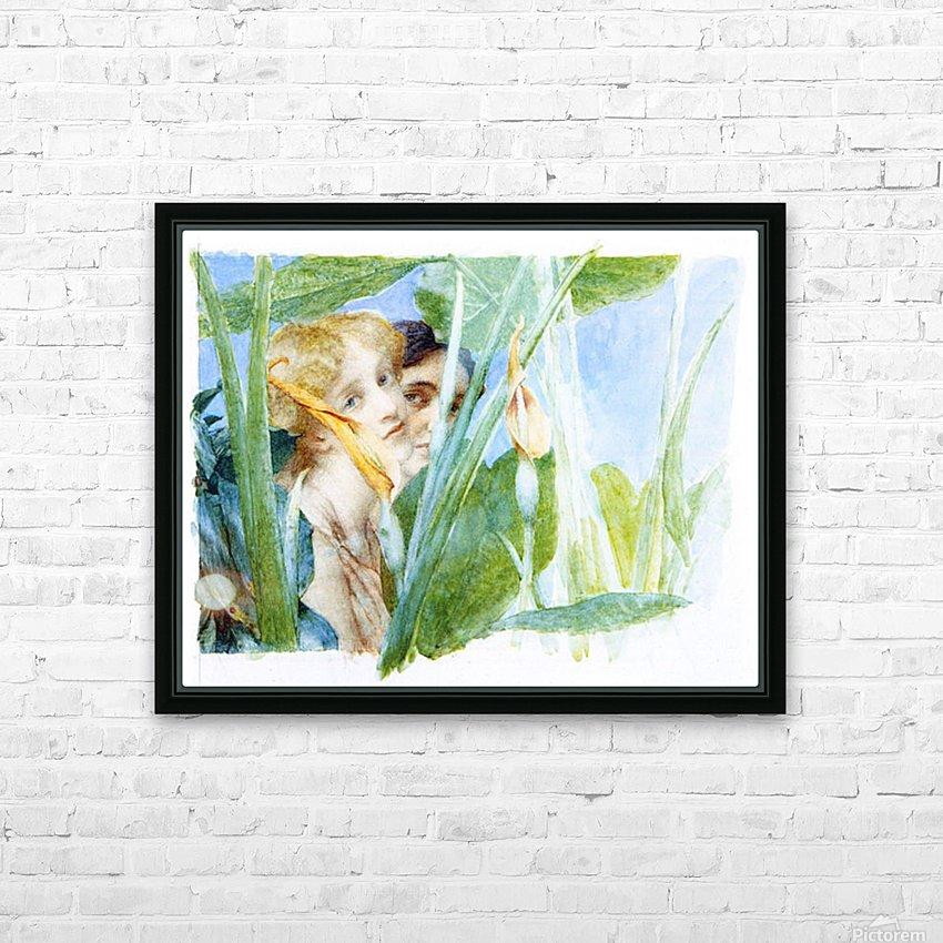 A beautiful flowe by Alma-Tadema HD Sublimation Metal print with Decorating Float Frame (BOX)