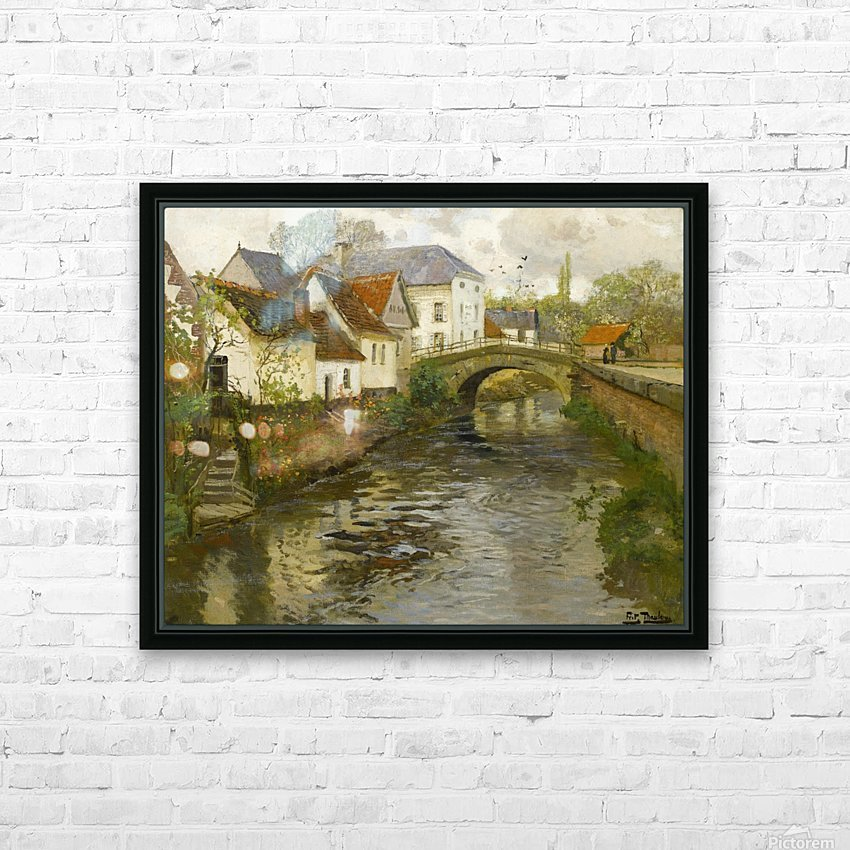 Small town near La Panne HD Sublimation Metal print with Decorating Float Frame (BOX)