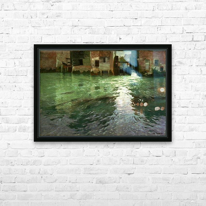 Water Mill HD Sublimation Metal print with Decorating Float Frame (BOX)