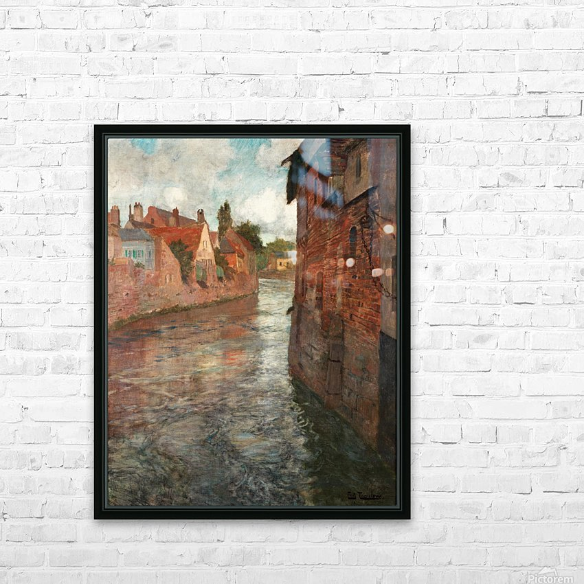 Old houses at somme in Abbeville HD Sublimation Metal print with Decorating Float Frame (BOX)