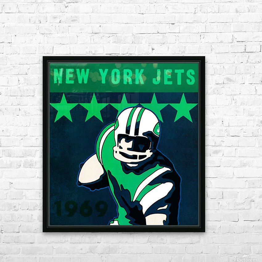 1969 new york jets HD Sublimation Metal print with Decorating Float Frame (BOX)