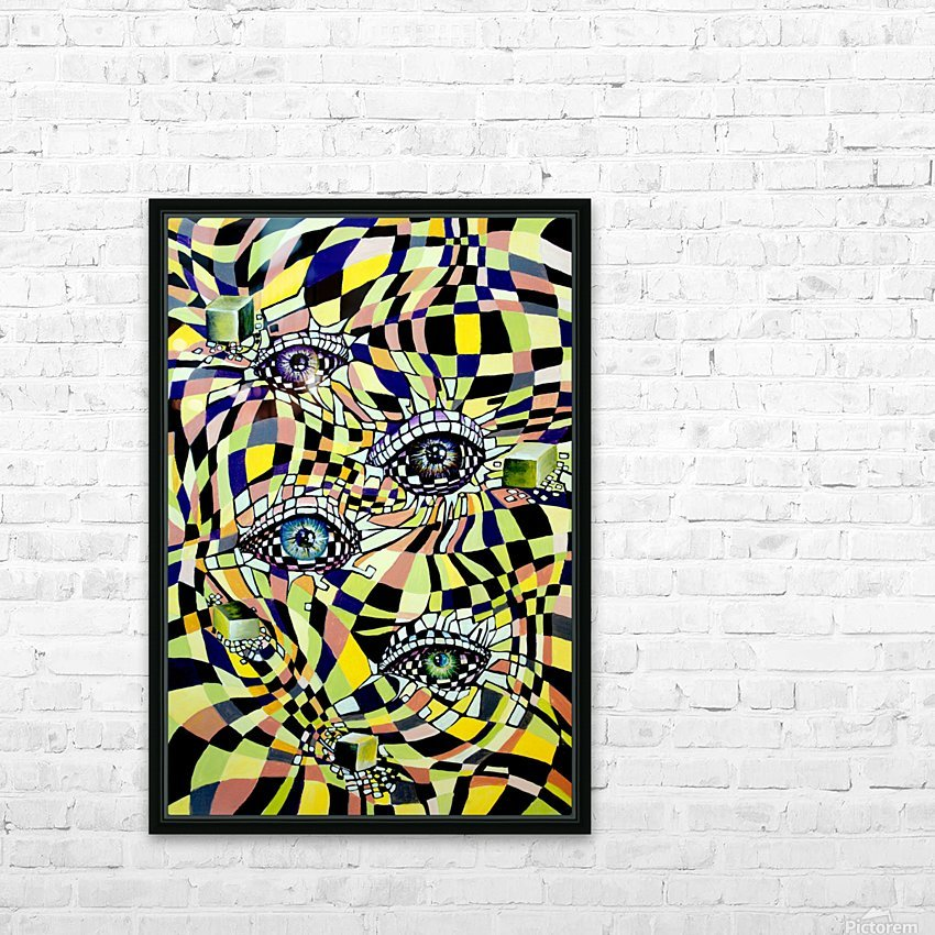 All Seeing Eye in Pop Surrealism  HD Sublimation Metal print with Decorating Float Frame (BOX)