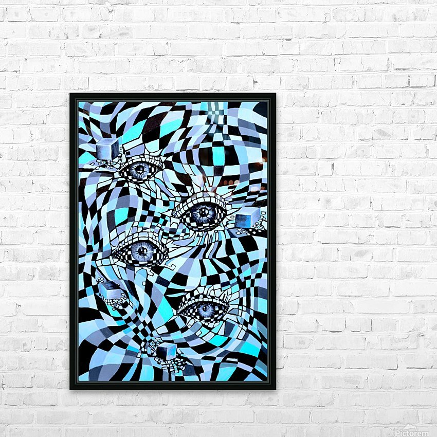 All Seeing Eye Pop Culture HD Sublimation Metal print with Decorating Float Frame (BOX)