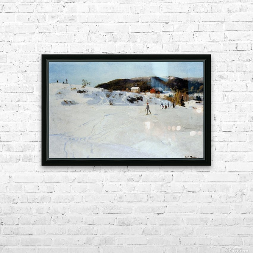 Skiers HD Sublimation Metal print with Decorating Float Frame (BOX)