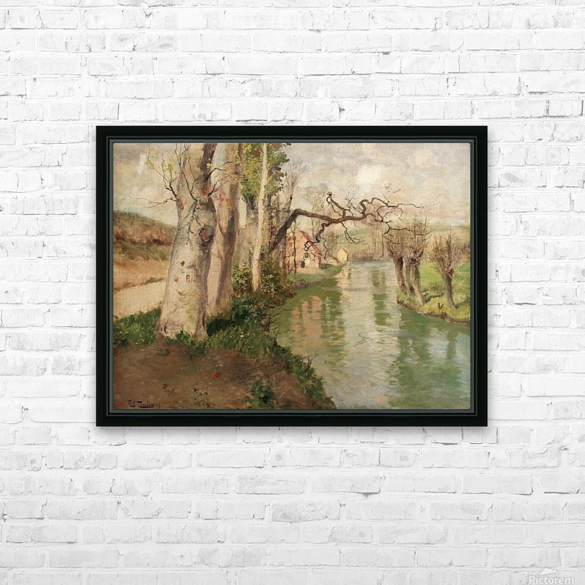 From Dieppe to Arques River HD Sublimation Metal print with Decorating Float Frame (BOX)