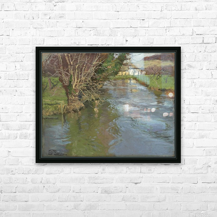 A stream in spring HD Sublimation Metal print with Decorating Float Frame (BOX)