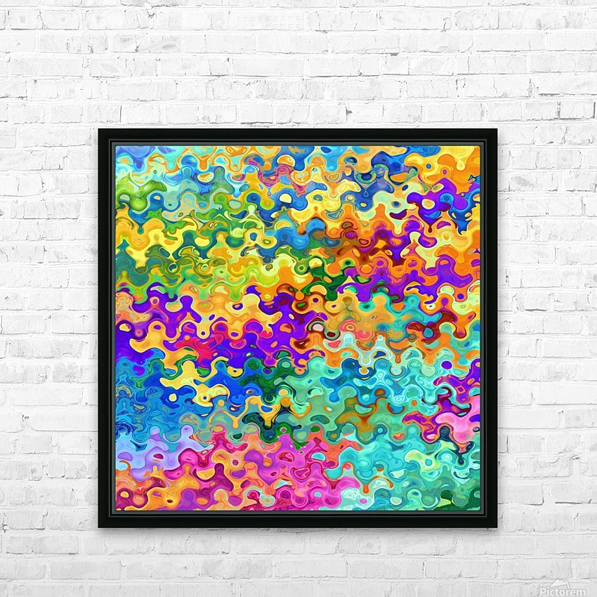 Colorful Abstraction HD Sublimation Metal print with Decorating Float Frame (BOX)